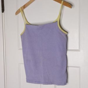 GAP cotton blue striped tank top size L